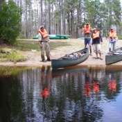 Conducting a service project for the Okefenokee Swamp as part of a summer course