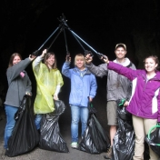 Earth Day garbage clean-up at the Red River Gorge