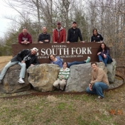 Grad Students at Big South Fork for class