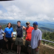 REC Students on top of Clingmans Dome, Great Smoky Mountains National Park
