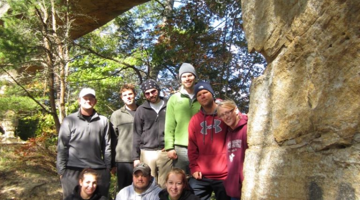 RPA Students in the field at the Red River Gorge